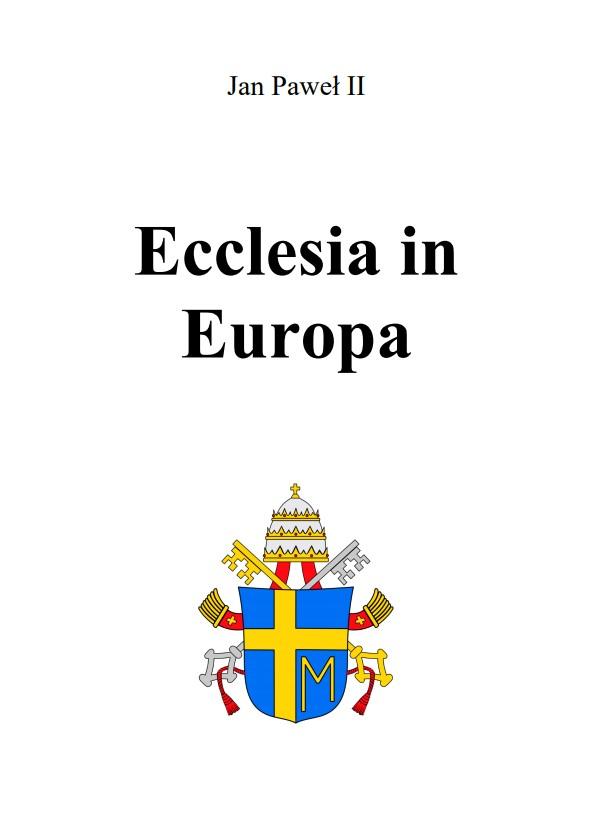 Adhortacja Ecclesia in Europa