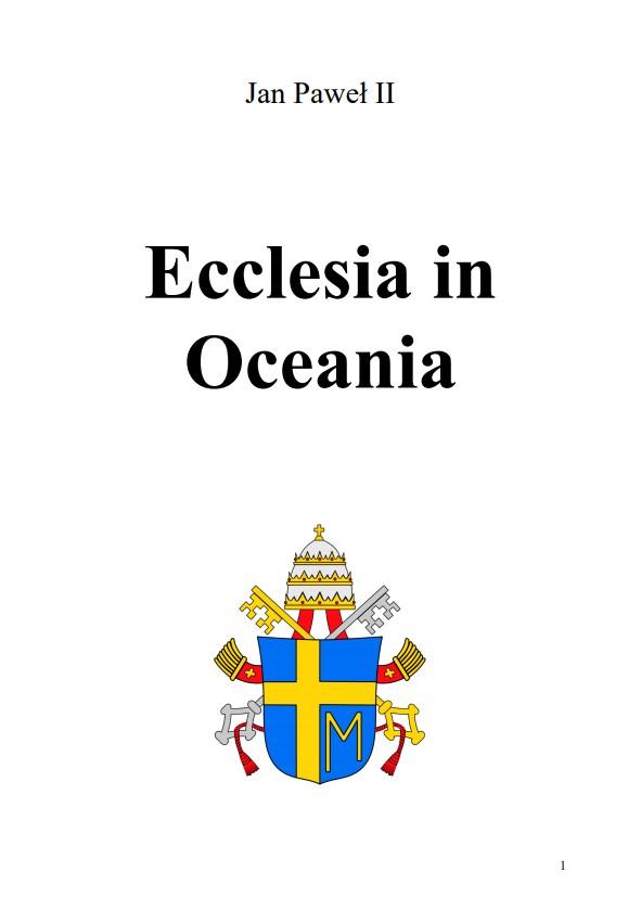 Adhortacja Ecclesia in Oceania