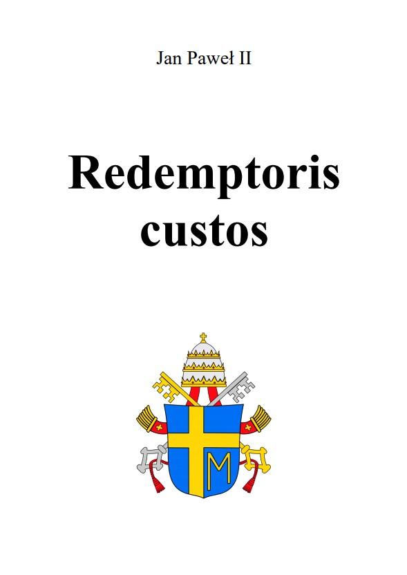 Adhortacja Redemptoris custos